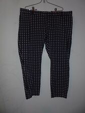 Gap Slim Cropped navy blue, with red pattern pants, size 20 stretch