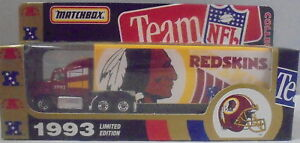 MJ7 Matchbox/WR - 1993 Team Collectible - Ford Aeromax - Brown - Redskins