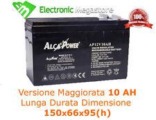 BATTERIA RICARICABILE ERMETICA PIOMBO 12V 10Ah 150x66x95(h)mm PER UPS BICI ETC