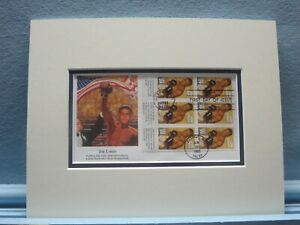Heavyweight Champion Joe Louis & First Day Cover of his own stamp