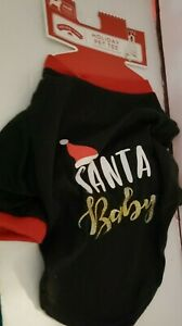 SM - M Dog Shirt Santas Baby Poodle Shih tzu Yorkie Pet Clothing Christmas SOFT