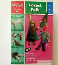 Felt Crafts FOREST FOLK Felt Doll KIT ages 8+