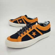 Converse One Star Academy Low Russet Orange Black 167137C Leather Mens Size 12