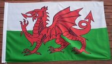 GIANT WELSH FLAG, ST. DAVID FLAG, RED DRAGON  5ft x 3ft