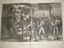 A Critical Moment Ready for Action HMS Temeraire G Durand 1878 old print