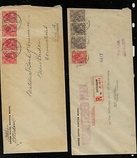 Netherlands   2  covers  to  US , one registered              MS0828