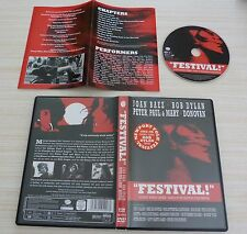 DVD PAL MUSIQUE BOB DYLAN JOAN BAEZ PETER PAUL & MARY FESTIVAL ALL ZONES