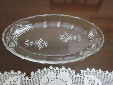 CROWN CRYSTAL SERIES 52 DEPRESSION GLASS  OBLONG SERING TRAY