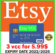 3 VCC Etsy Seller Verification Virtual Card 🔥Fast Delivery🔥