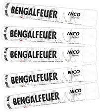 Bengalfeuer/Bengalos in Weiß-Blinker/ 5 St. Gesamt
