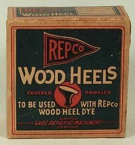 REPCO WOOD HEELS VINTAGE REPLACEMENT SHOE REPAIR IN BOX