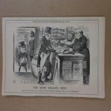 "7x10"" punch cartoon 1869 THE IRISH TREASON SHOP gladstone"