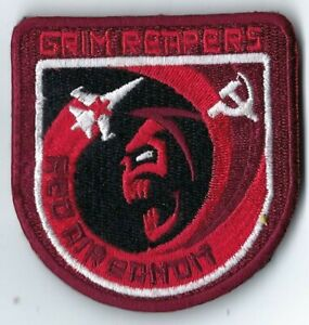 USAF 493rd FIGHTER SQUADRON GRIM REAPERS RED AIR BANDIT MILITARY PATCH