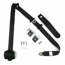 Black Retractable Front Shoulder Seat Belt Jeep CJ YJ Wrangler 82-95 3Pt 2PC