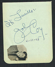 Johnny Coy (d. 1973) signed autograph 4x5 Album Page Actor: Bring on the Girls