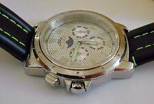 New Men's Invicta 3002 Multi-function Quartz Leather Watch. Box. Rare