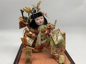 Vintage Handmade Japanese Traditional Samurai Doll Ornate With Helmet  Sword 8D4