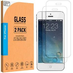For iPhone 5 5S 5C SE Tempered Glass Screen Protector Genuine