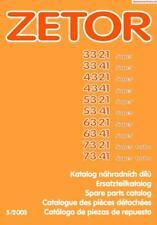 Zetor 3321 To 7341 Parts Manual