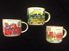 Starbucks London Birmingham Edinburgh Mug Set YAH Coffee Cup You Are Here UK New