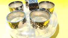 Clear silicone Buddhist mantra ring mold for personal jewelry making,  DIY V-02