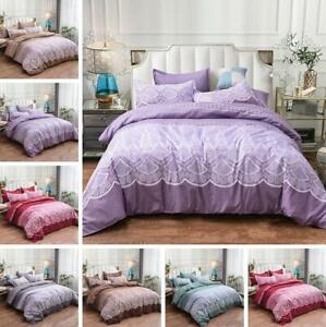 Printed Duvet Set Quilt Cover Pillowcase Single Queen King Size Bedding Bed Set