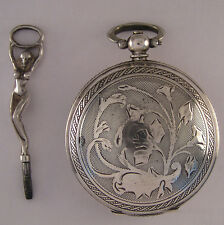 "UNIQUE English '1850 Solid Silver ""Ottoman"" Pocket Watch Perfect Serviced"