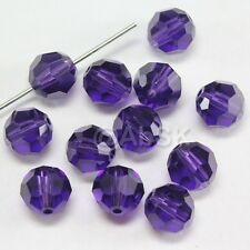 12 pcs Swarovski Element 5000 8mm Faceted Round Ball Bead Crystal PURPLE VELVET