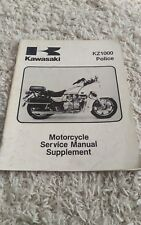 Kawasaki Kz1000 Kz 1000 P1 Police Shop Service Repair Manual Supplement Oem