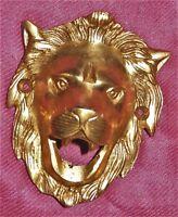 Vintage Style Brass Wall Mounted Lion Shape Kitchen Pub Bar Beer Bottle Opener