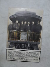GREAT NORTHERN RAILWAY Western Governor's Special Train 1912  Postcard