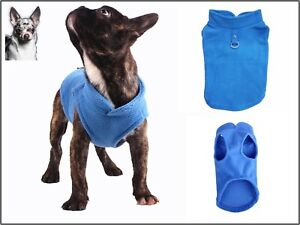 💚 Hundepullover Winter Softgeschirr Weste Mantel Jacke Fleece Blau 3 Größen