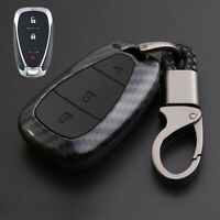 Carbon Fiber Design Shell+Silicone Cover Holder Fob Case For Holden Remote Key C