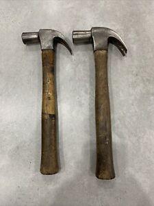 Pair Of Vintage Stanley Claw Hammers 16&20oz