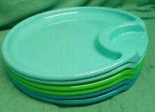 pampered chef plates - set of 6