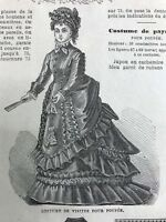 DIGITAL version - French MODE ILLUSTREE SEWING PATTERN Dec 5,1875 DOLL OUTFITS
