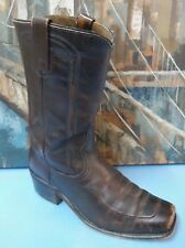 ACME SQUARE TOE MOTORCYCLE BROWN LEATHER BOOTS SIZE 8 D STYLE 5614