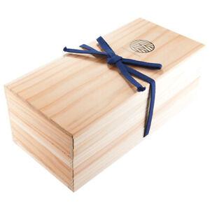 R4Yours Echigo Zeder Sugi Kiste Multitiered Kiste Jubako 15 Paar Essstäbchen Set