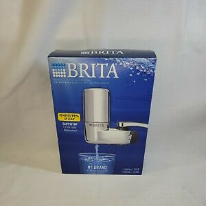 Brita Basic Faucet Mount System CHROME Water Filter Easy to Use BNIB New