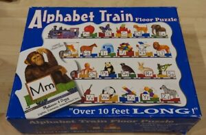Melissa & Doug ALPHABET TRAIN Floor Puzzle 10' Long Homeschool Early Learning