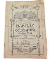 "RARE AUSTRALIAN HISTORICAL BOOKLET. ""HARTLEY COURT-HOUSE CENTENARY 1837-1937""."