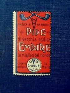 Italian Poster Stamp - Cigarette - Tobacco - PIPE EMPIRE - Erinnofilo Pubblicità