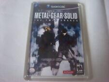 Juego De Gamecube Cubierta FRIDGE MAGNET Metal Gear Solid The Twin Snakes Cubierta