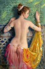 """YA1417# Hand-painted portrait oil painting SEXY NAKED GIRL UNFRAMED 24""""x36"""""""