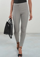 Ex Reiss Gio Jacquard Trouser in Black and Cream Size 6 12 14 (W19.9)
