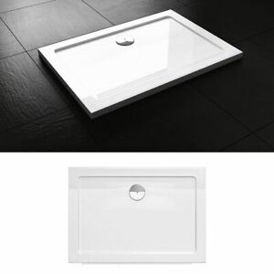 Modern Acrylic White Gloss Shower Tray With Free Waste