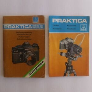 PRAKTICA EE2 camera Instructions plus Accessories brochure, 1977—good condition