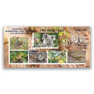 Melbourne 2022 Stamp Expo 2 YEARS TO GO Wildlife Recovery Imperf Mini Sheet MUH