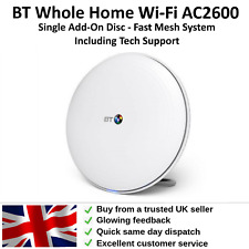 More details for bt wifi disc extender whole home additional add-on extender (ac2600) white