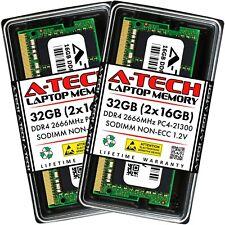 A-Tech 32 ГБ 2x 16 ГБ PC4-21300 для ноутбука Sodimm DDR4 2666 МГц памяти 2rx8 RAM 16G 32G